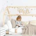 Natural Wood Script Joined Wall Letters