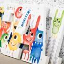Cute Little Monsters Wall Letters