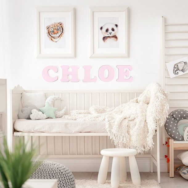 Pink Chloe Painted Wall Letters