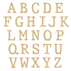 Unpainted Typewriter font Freestanding Letters