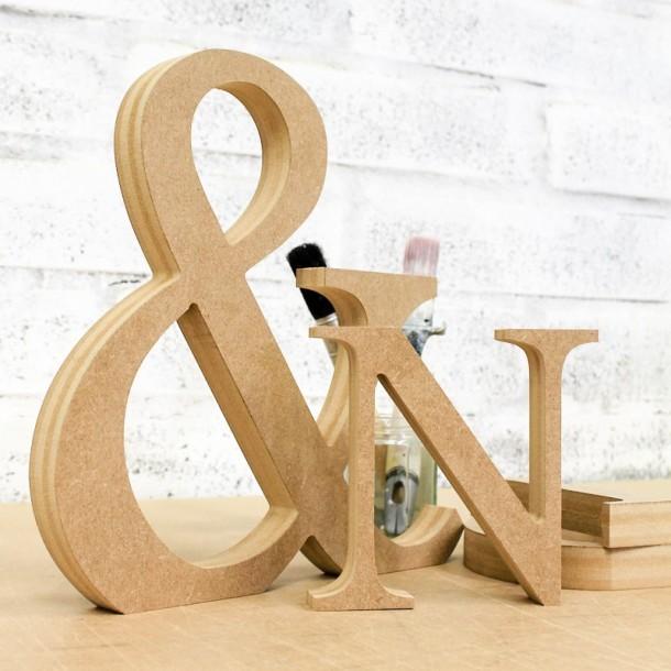 Baskerville font Freestanding Wooden MDF Letters
