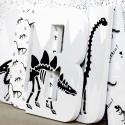 Black + Grey Contemporary Dino Letters