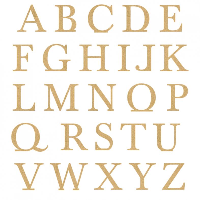 baskerville freestanding wooden letters painted