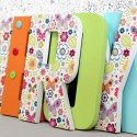 Bright Butterflies & Flowers Letters