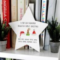 Elf Hats Personalised Wooden Christmas Star