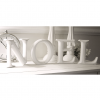 Distressed White Noel Letters