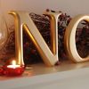 Gold Carved NOEL Christmas Wooden Letters