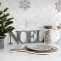 Distressed Gunmetal Joined NOEL letters