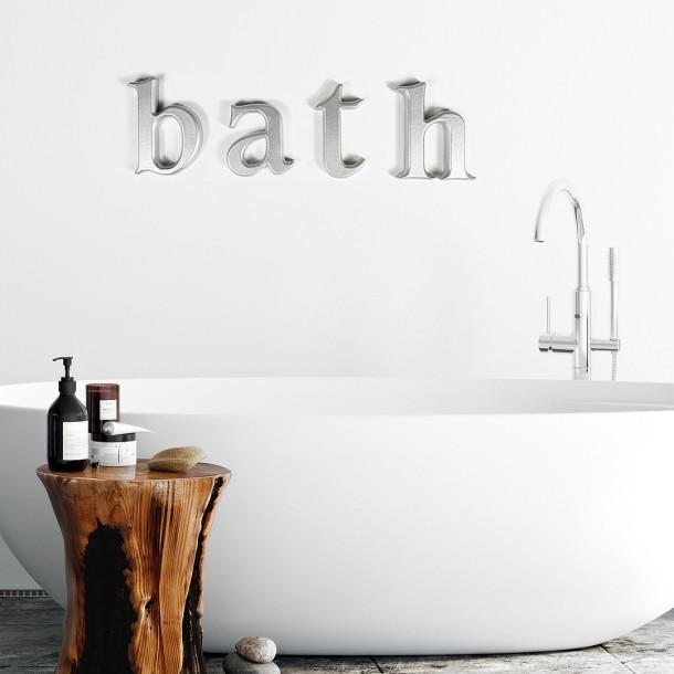 metallic silver bath
