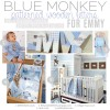 Blue Monkey Nursery Wall Name Letters