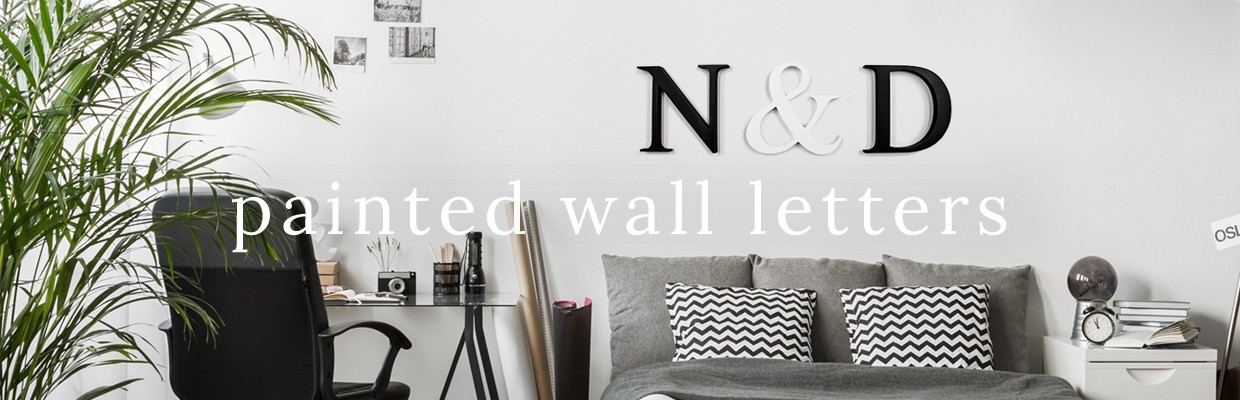 Painted Wall Letters