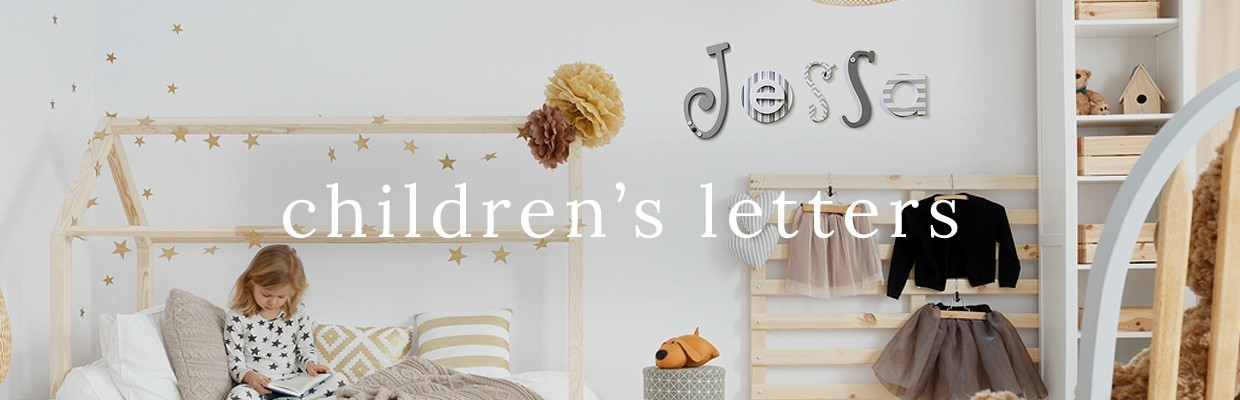 Children's Patterned Wall Letters